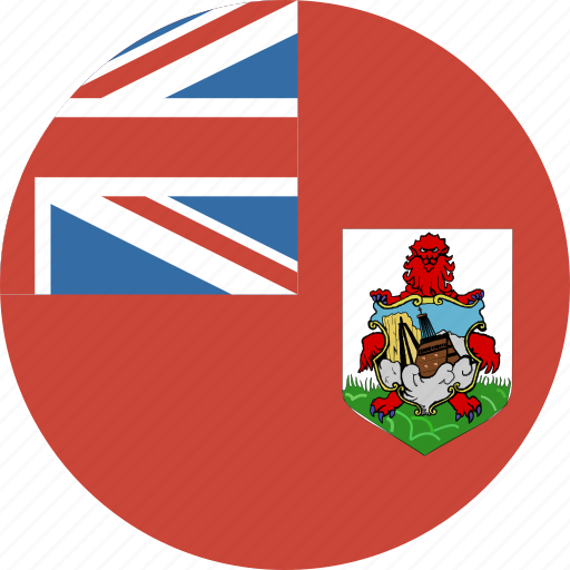 bermuda, circle, flag icon
