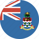 cayman, circle, flag, islands icon