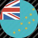 circle, country, flag, tuvalu