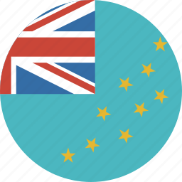 circle, country, flag, tuvalu icon