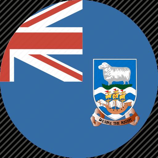circle, falkland, flag, islands icon