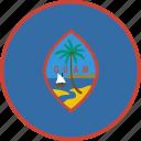 circle, flag, guam icon
