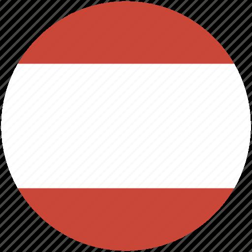 austria, circle, flag icon