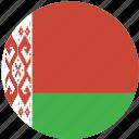 circle, belarus, flag