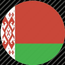 belarus, circle, flag icon