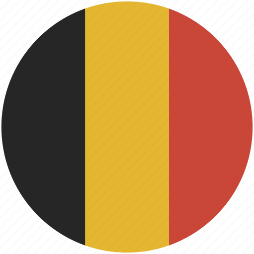 belgium, circle, flag icon