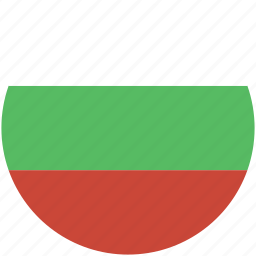 bulgaria, circle, flag icon