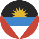 and, antigua, barbuda, circle, flag icon