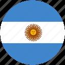 argentina, circle, flag icon