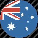 circle, australia, flag
