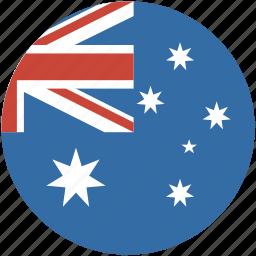 australia, circle, flag icon