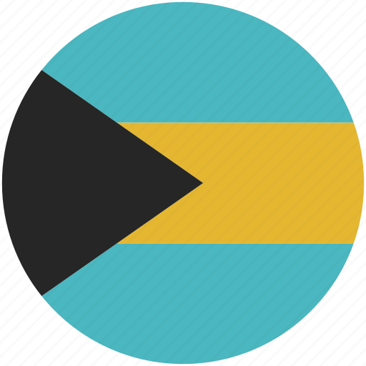 bahamas, circle, flag icon
