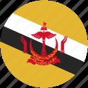 brunei, circle, flag