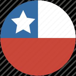 chile, circle, flag icon