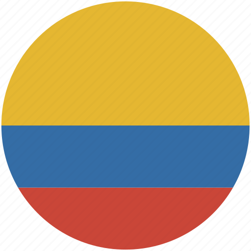 circle, colombia, flag icon