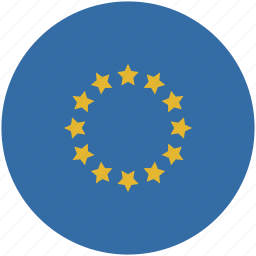 circle, eu, europe, flag icon