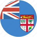 circle, fiji, flag icon