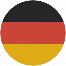 circle, flag, germany icon