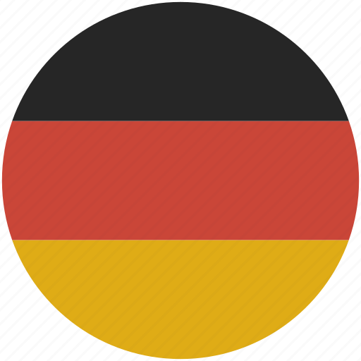 circle flag germany icon
