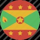 circle, flag, grenada icon