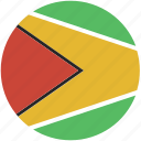 circle, flag, guyana icon
