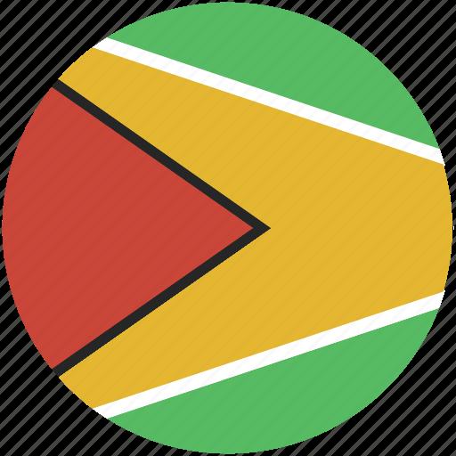 circle, flag, guyana icon