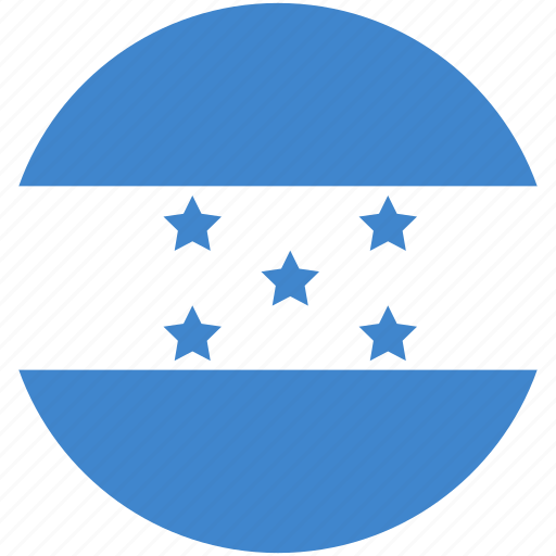 circle, flag, honduras icon