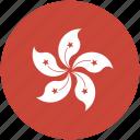 circle, flag, hongkong icon