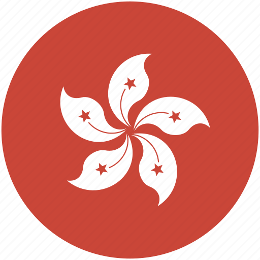 circle, flag, hongkong icon