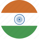 circle, india, flag