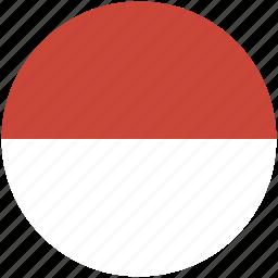 circle, flag, indonesia icon