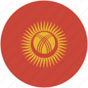 circle, flag, kyrgyzstan icon