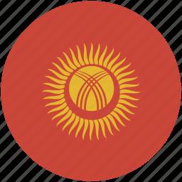 circle, flag, kyrgyzstan icon