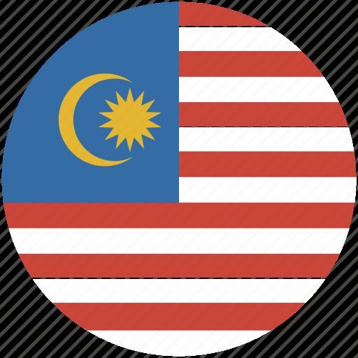 circle, flag, malaysia icon