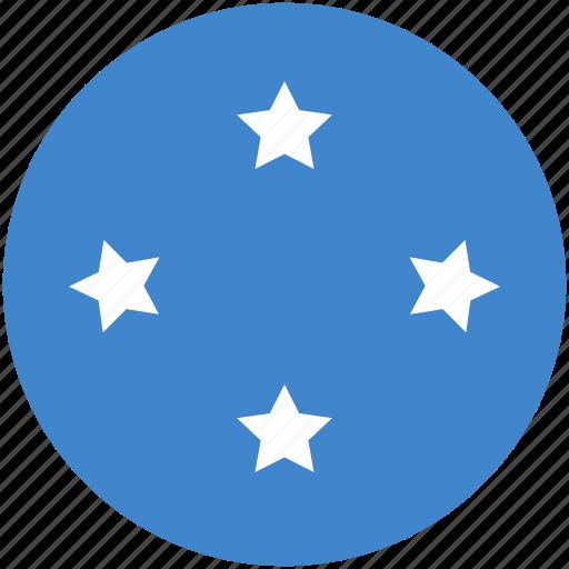circle, flag, micronesia icon