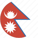 circle, nepal, flag