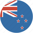 zealand, new, circle, flag