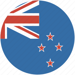 circle, flag, new, zealand icon