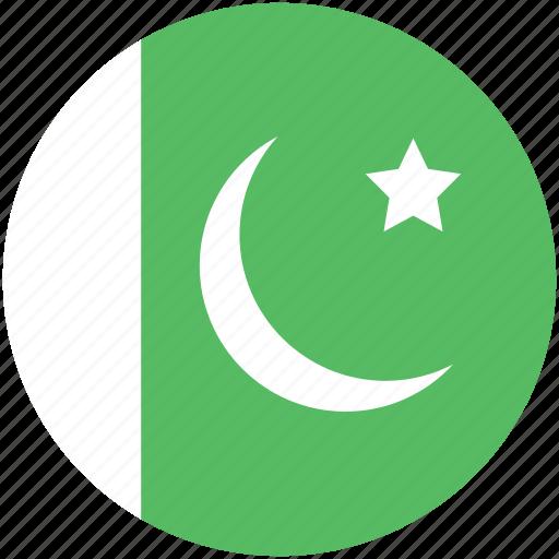 circle, flag, pakistan icon