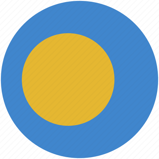 circle, flag, palau icon