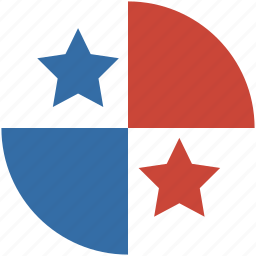 circle, flag, panama icon