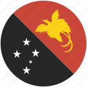 circle, flag, guinea, new, papua icon