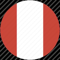 circle, flag, peru icon