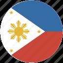 phillipines, circle, flag