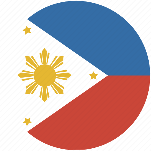 circle, flag, phillipines icon