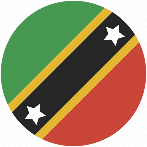 and, circle, flag, kitts, nevis, saint icon