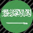 arabia, circle, flag, saudi