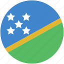 circle, flag, island, solomon icon