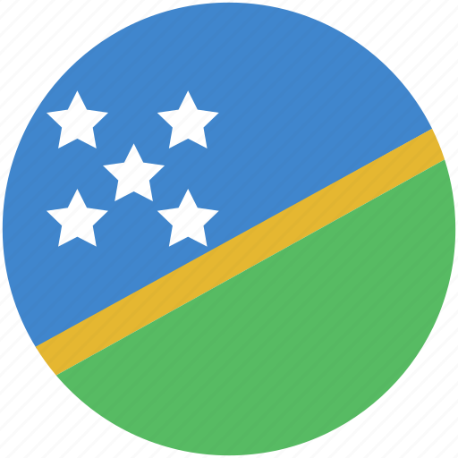 circle, flag, island, solomon icon