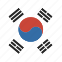 circle, flag, korea, south icon
